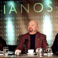 Iris Kritikou, Josh Garrick & George Kakavas at the Ianos Bookstore presentation of the book