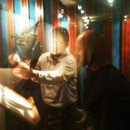 In the recording booth